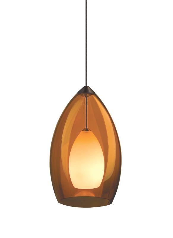 Tech Lighting 700MOFIRA MonoRail Fire Translucent Amber Murano Glass
