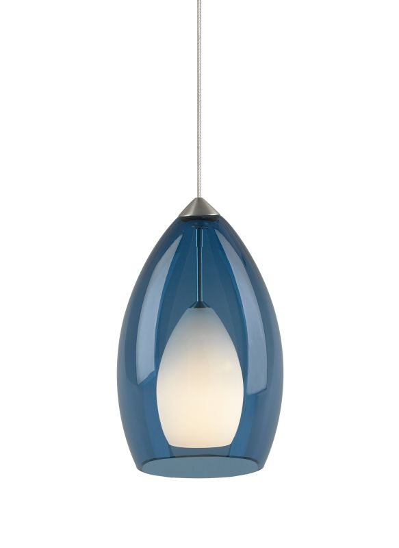Tech Lighting 700MOFIRU MonoRail Fire Translucent Steel Blue Murano