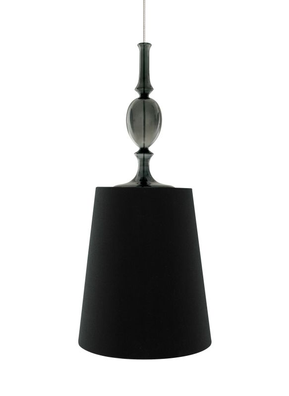 Tech Lighting 700MOKIEBK MonoRail Kiev Black Fabric Shade Pendant with
