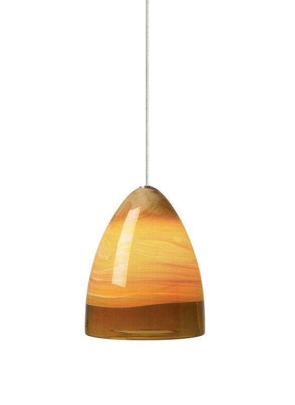 Tech Lighting 700MONEBLA MonoRail Nebbia Amber Hand-Blown Swirled