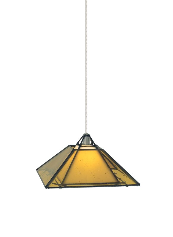 Tech Lighting 700MOOAKBA MonoRail Oak Park Craftsman-Style Amber