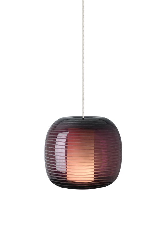 Tech Lighting 700MOOTOM MonoRail Otto Amethyst Hand-Etched Mouth Blown