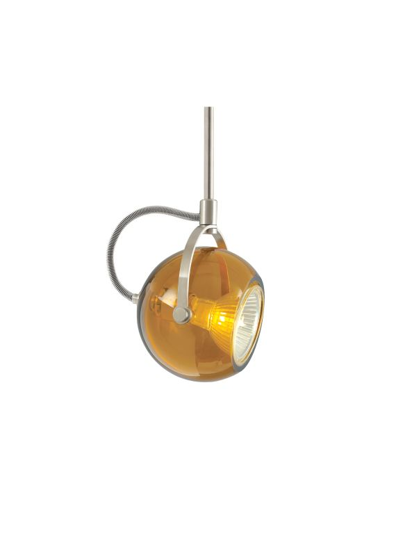 Tech Lighting 700MOPOD06A MonoRail Pod Amber Translucent Glass Orb