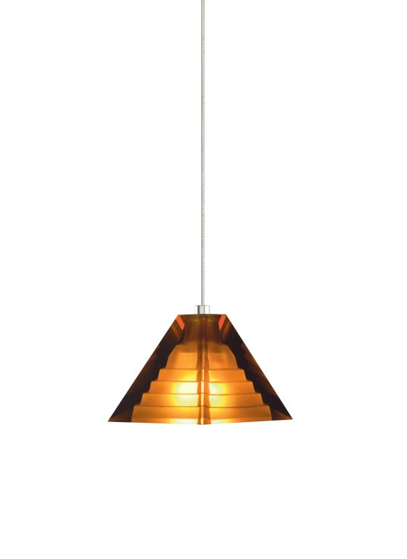 Tech Lighting 700MOPYRA MonoRail Amber Classic Pyramid Shaped Glass