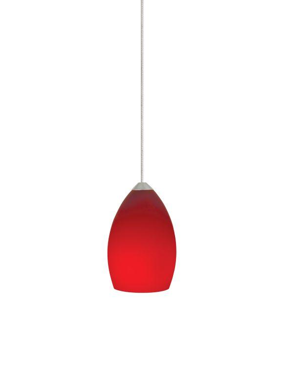 Tech Lighting 700MORDR MonoRail Red Raindrop Shaped Glass Pendant -12v