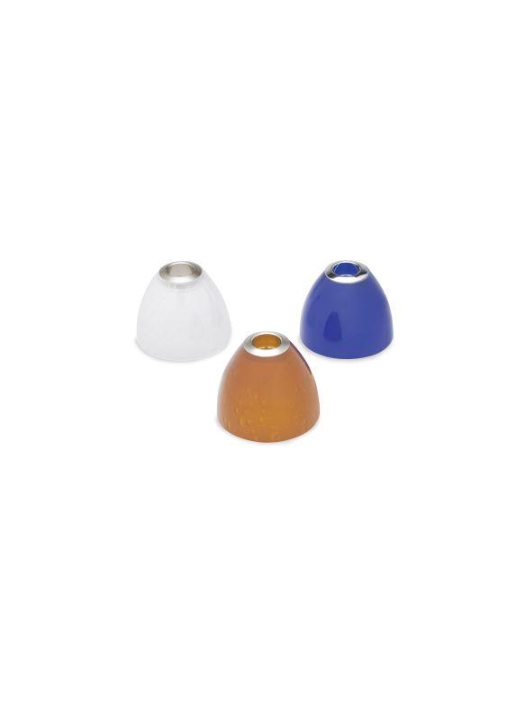 Tech Lighting 700SDAA Amber Cone Shaped Soda Glass Shade Satin Nickel