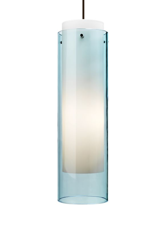 Tech Lighting 700TDECGPQ Echo Grande Transparent Aquamarine Cylinder