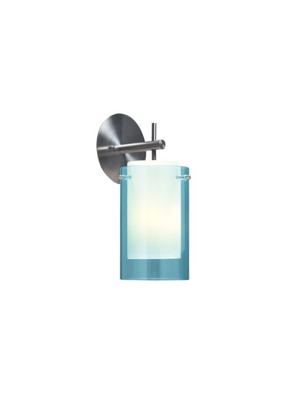 Tech Lighting 700TDECSQ Echo Transparent Aquamarine Glass Shade Wall