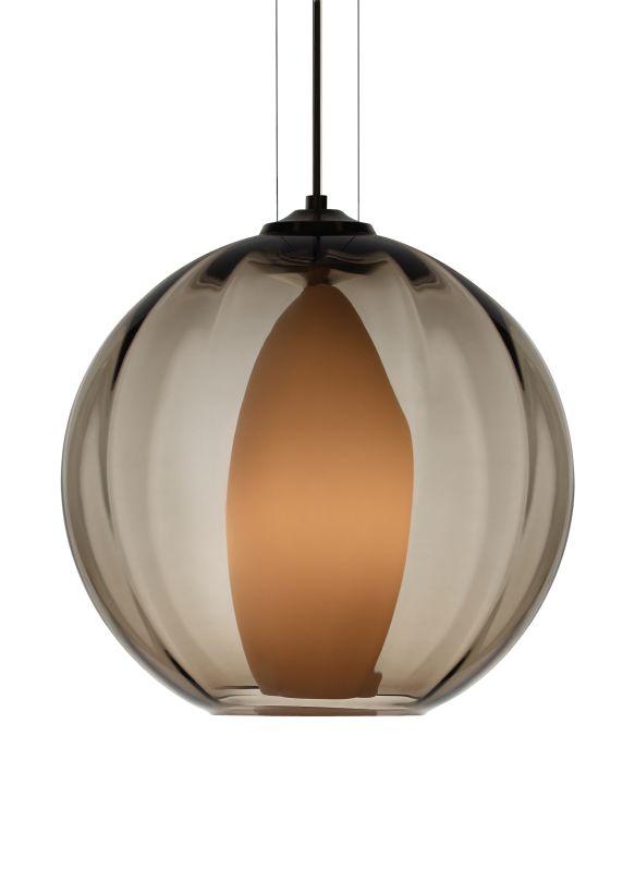 Tech Lighting 700TDIWOPK-CF Inner World Hand-Blown Smoke Murano Glass