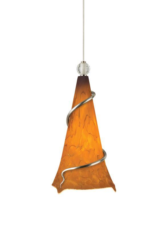 Tech Lighting 700TDOVPANN-CF Ovation Tahoe Pine Amber Hand Pulled
