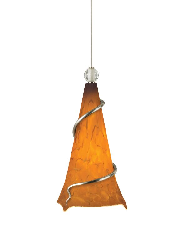 Tech Lighting 700TDOVPANN Ovation Tahoe Pine Amber Hand Pulled Glass