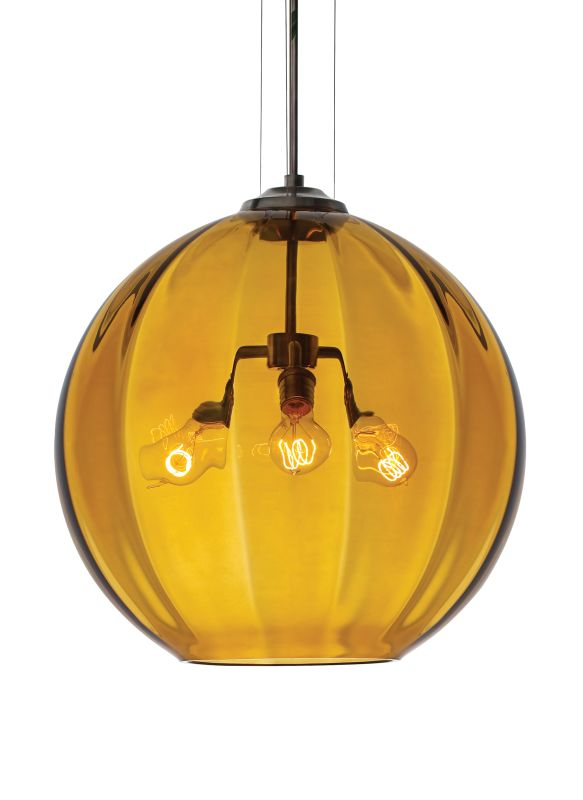 Tech Lighting 700TDWORPA World Hand-Blown Amber Murano Glass Line