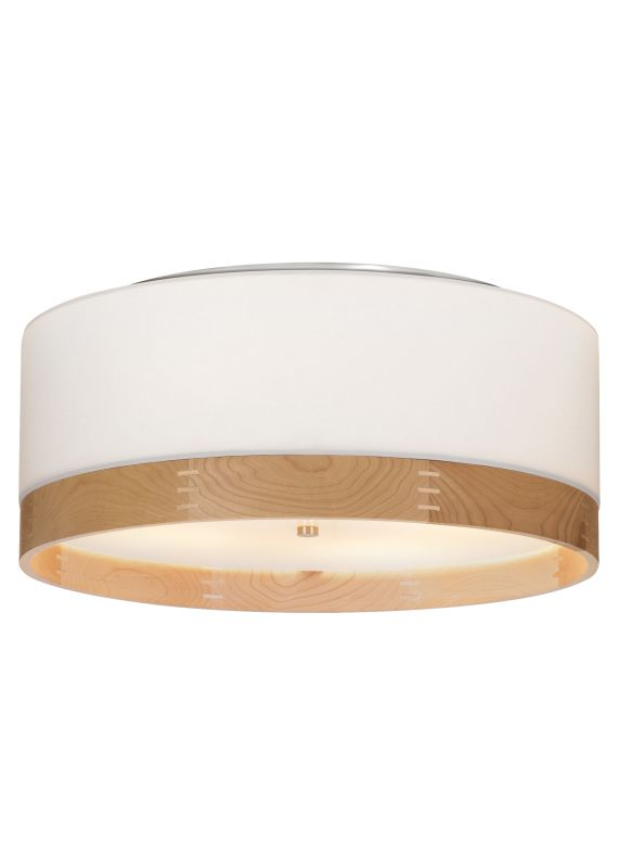"Tech Lighting 700TPO24WW Topo 4 Light 24"" Stem White Fabric / Walnut"