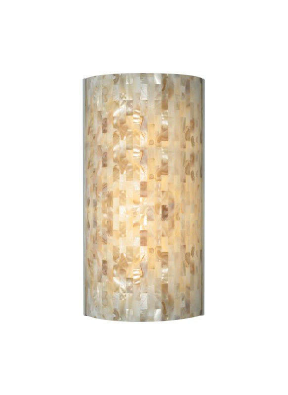 Tech Lighting 700WSPLAFN Playa Flush Multi-Toned Natural Shell Panel