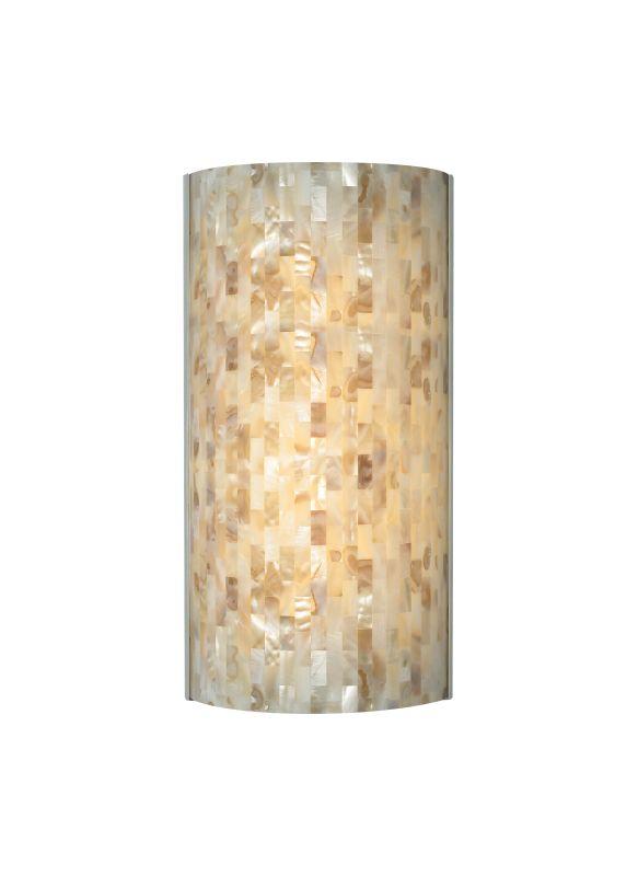 Tech Lighting 700WSPLAFN-LED Playa Flush Multi-Toned Natural Shell