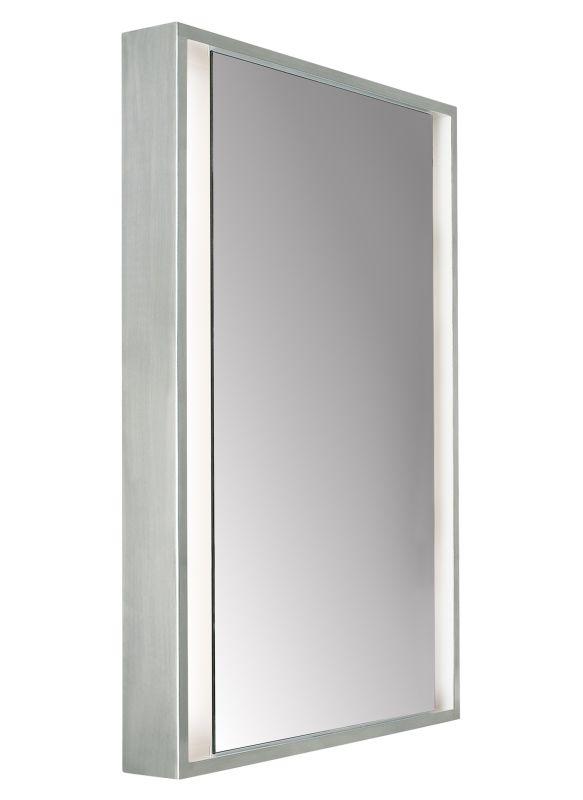 "Tech Lighting 700BCSIBSS-CF 36"" Tall Lighted Mirror Satin Nickel Home"
