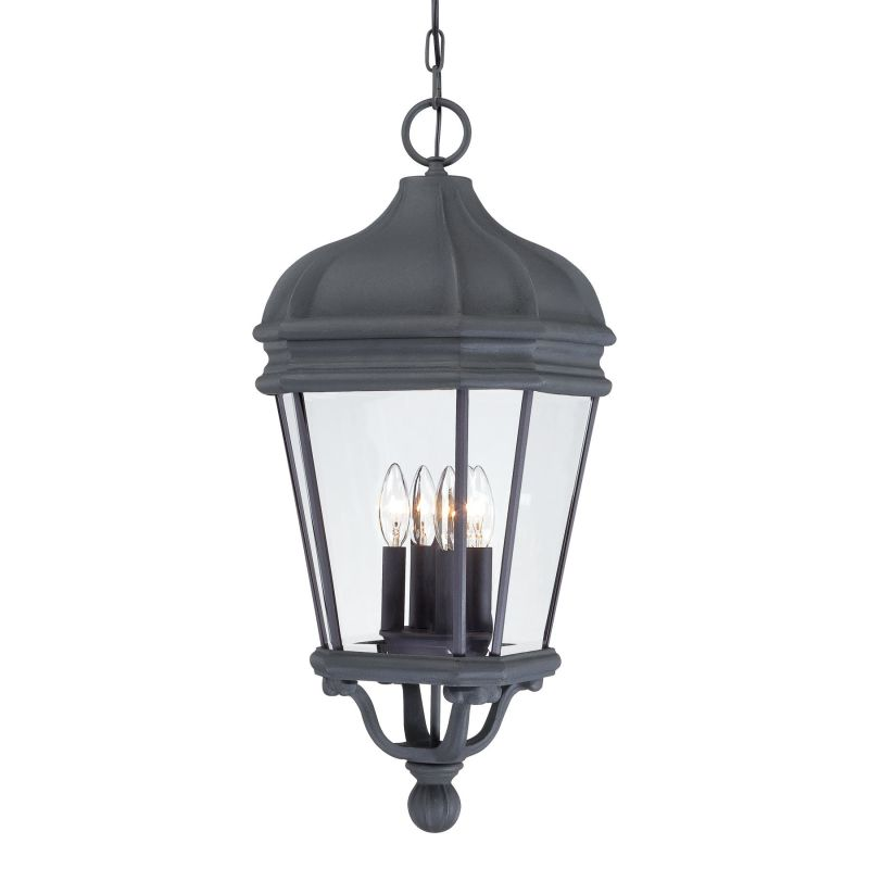 The Great Outdoors GO 8694 4 Light Lantern Pendant from the Harrison