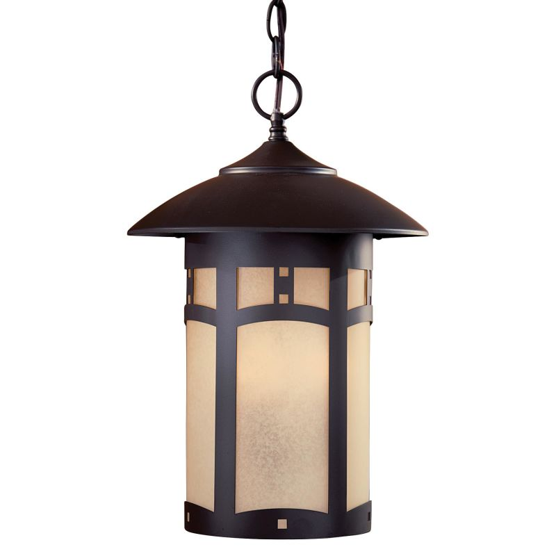 The Great Outdoors GO 8724 3 Light Lantern Pendant from the Harveston