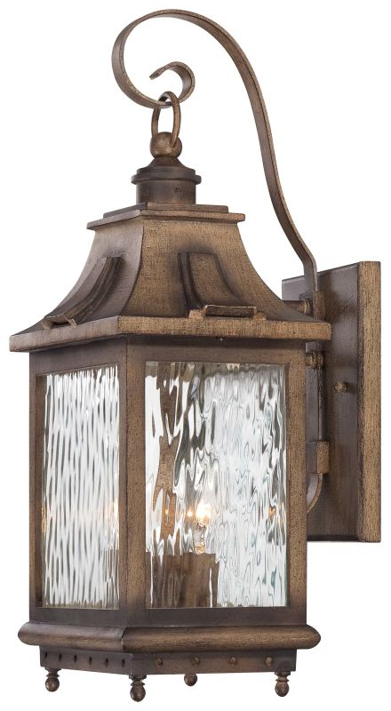 The Great Outdoors 72112-149 3 Light Outdoor Wall Sconce from the