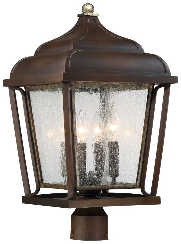 The Great Outdoors 72546-593 4 Light Outdoor Post Light from the