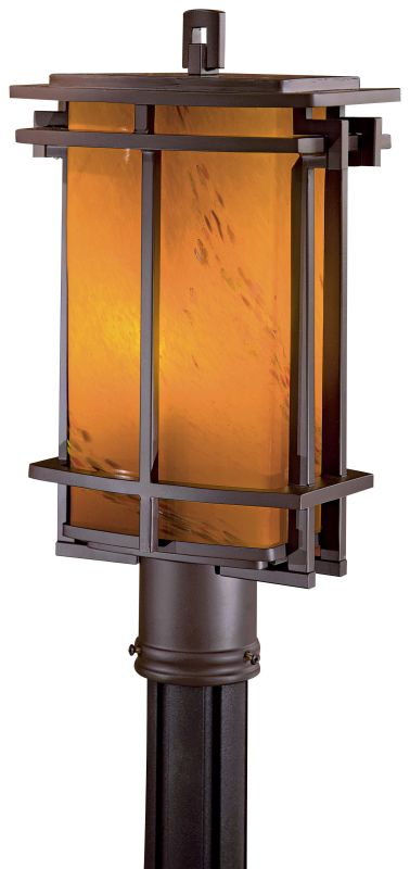 The Great Outdoors GO 72016-615B-PL 1 Light Energy Star Post Light