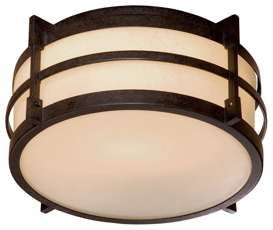 The Great Outdoors GO 72029-PL 1 Light Flush Mount Ceiling Fixture