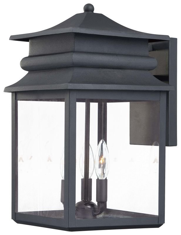 The Great Outdoors 72282 66 Black 3 Light Outdoor Wall