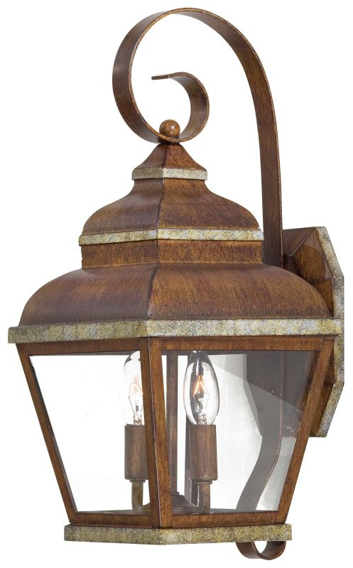 The Great Outdoors GO 8262 2 Light Outdoor Wall Sconce from the
