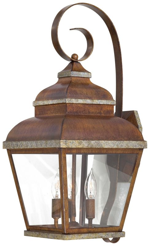 The Great Outdoors GO 8263 3 Light Outdoor Wall Sconce from the