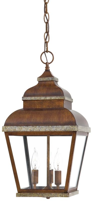 The Great Outdoors GO 8264 3 Light Lantern Pendant from the Mossoro