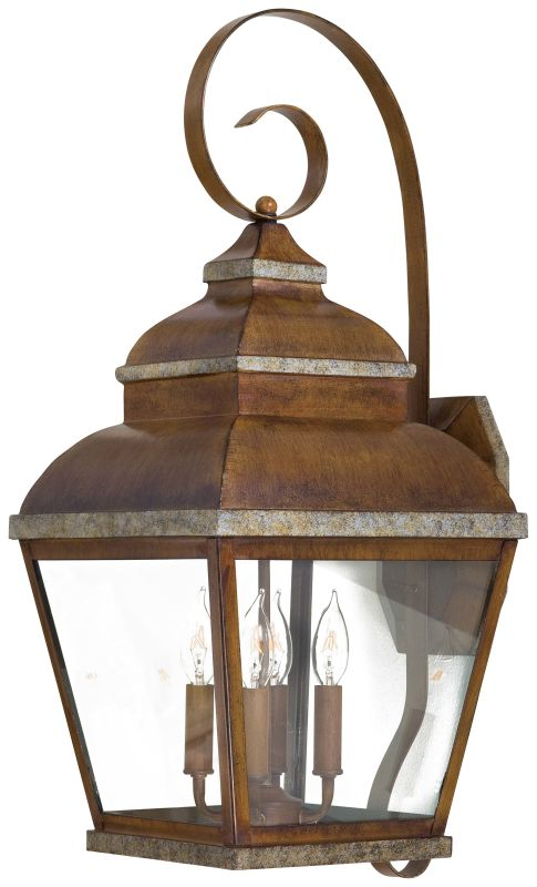 The Great Outdoors GO 8267 4 Light Outdoor Wall Sconce from the