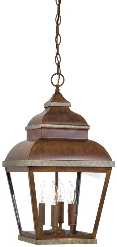 The Great Outdoors GO 8268 4 Light Lantern Pendant from the Mossoro