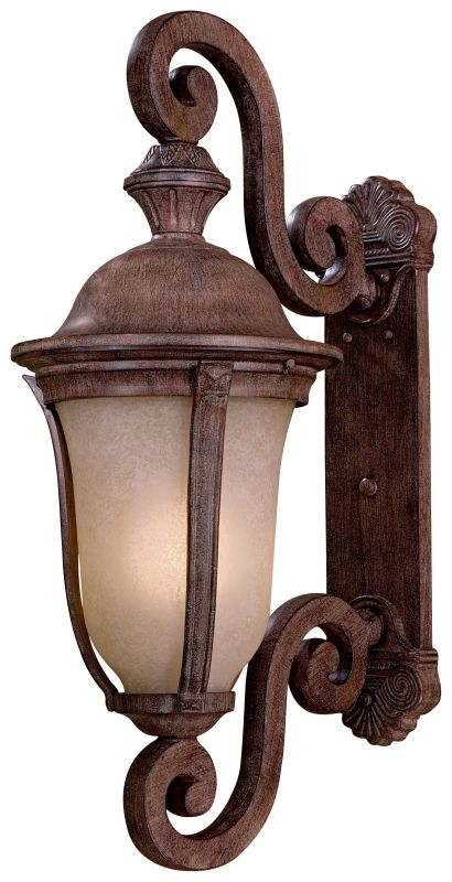 The Great Outdoors GO 8992-PL 1 Light Outdoor Wall Sconce from the