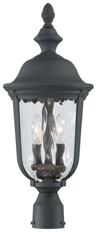 The Great Outdoors 8995-66 2 Light Post Light in Black from the