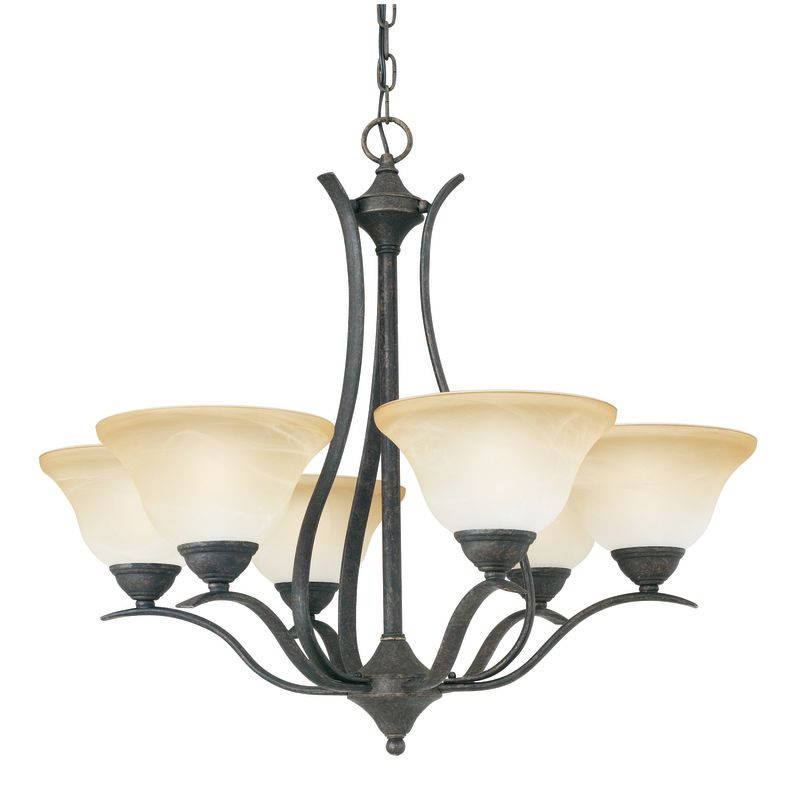 Thomas Lighting SL8636 6 Light Up Lighting Chandelier from the