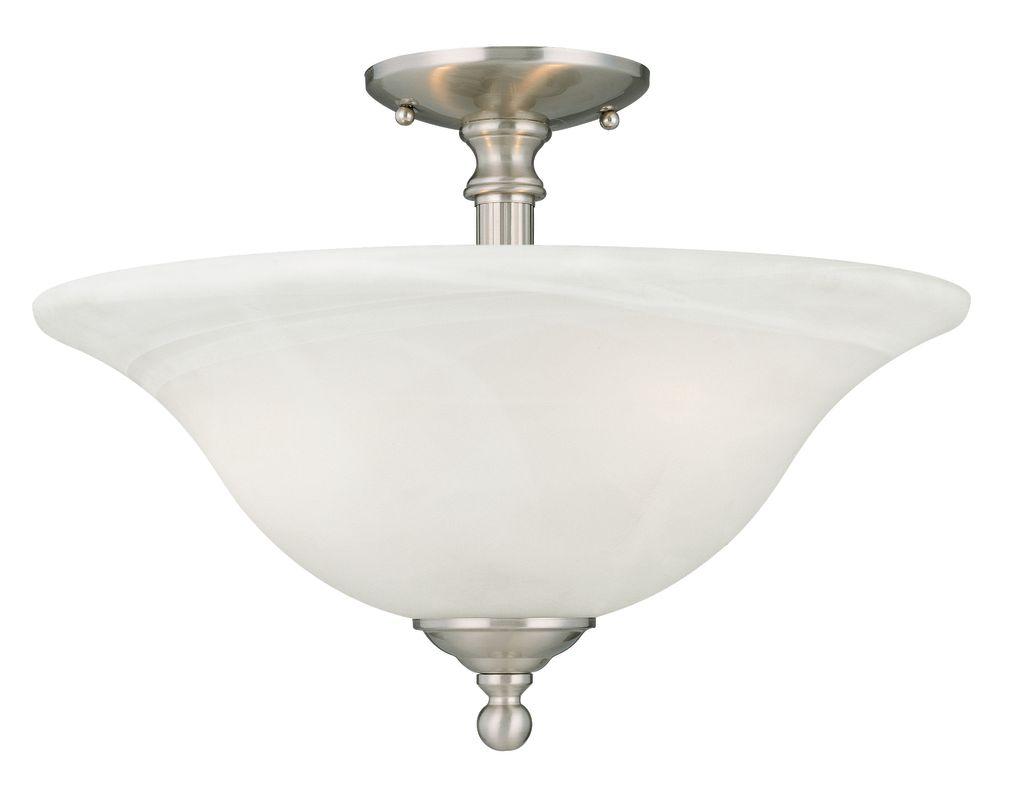 Thomas Lighting Sl869678 Brushed Nickel Semi Flush Ceiling