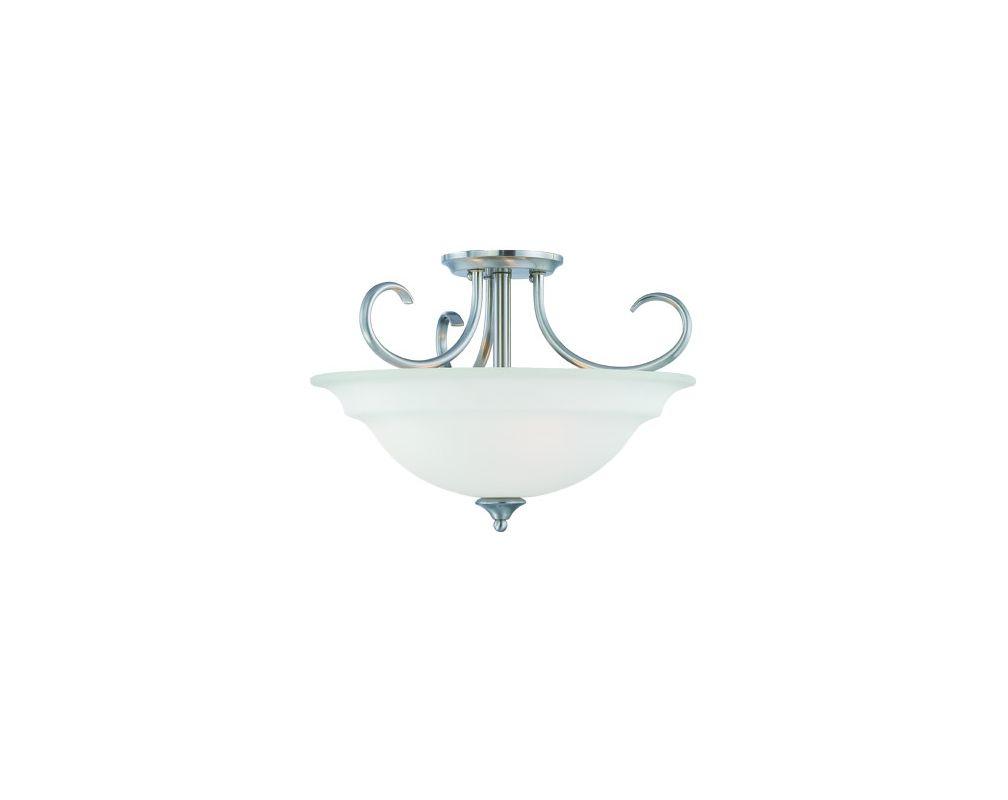 Thomas Lighting SL8607 3 Light Semi-Flushmount Ceiling Fixture with