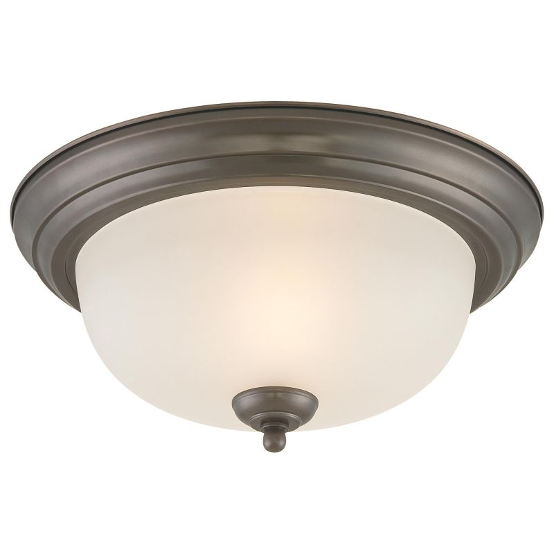 Thomas Lighting SL8782 Two Light Flush Mount Ceiling Fixture Oiled