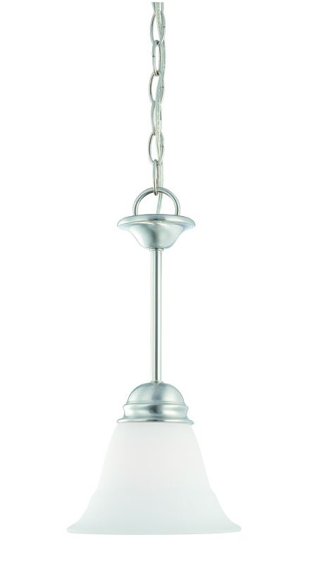 Thomas Lighting SL8915 1 Light Mini Pendant with Etched Glass Bell