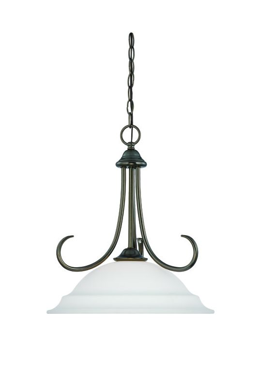 Thomas Lighting SL8916 Modern 1 Light Pendant with Etched Glass Bowl