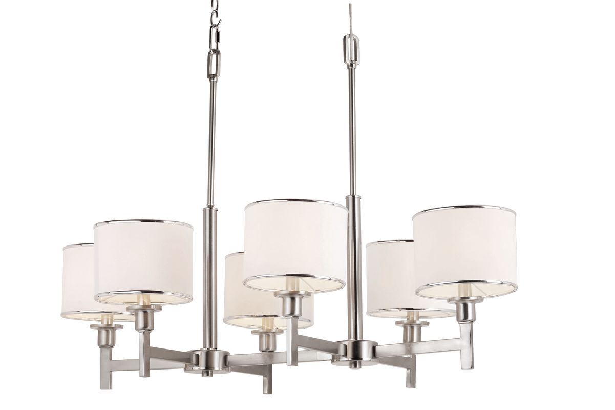 Trans Globe 1056 BN Nickel Contemporary Young and Hip Chandelier