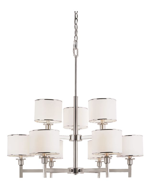 Trans Globe 1059 BN Nickel Contemporary Young and Hip Chandelier
