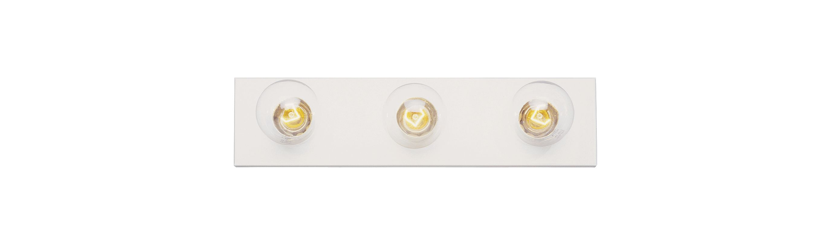 "Trans Globe Lighting 3003 Three Light 18"" Wide Bath Bar White Indoor"