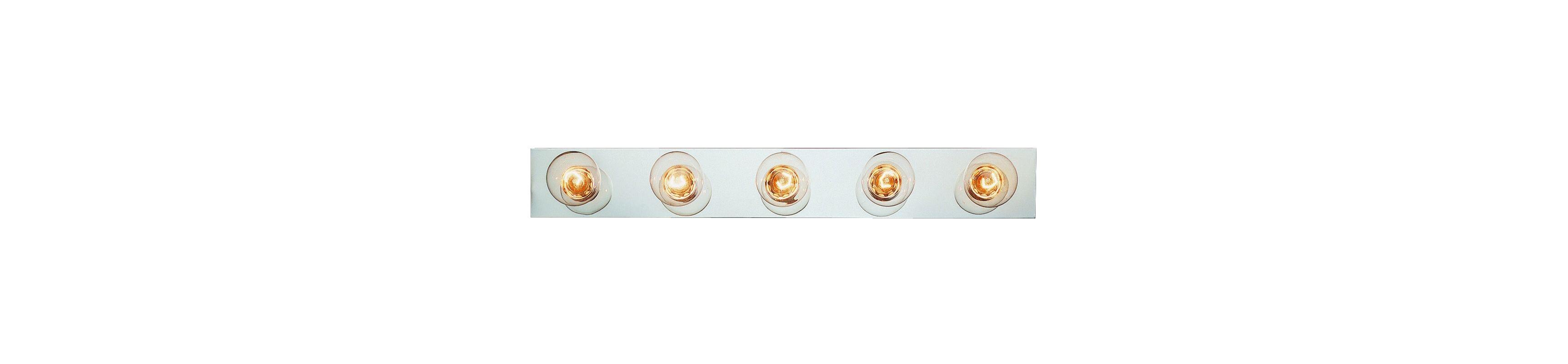 """Trans Globe Lighting 3005 Five Light 30"""" Wide Bath Bar Polished Chrome"""