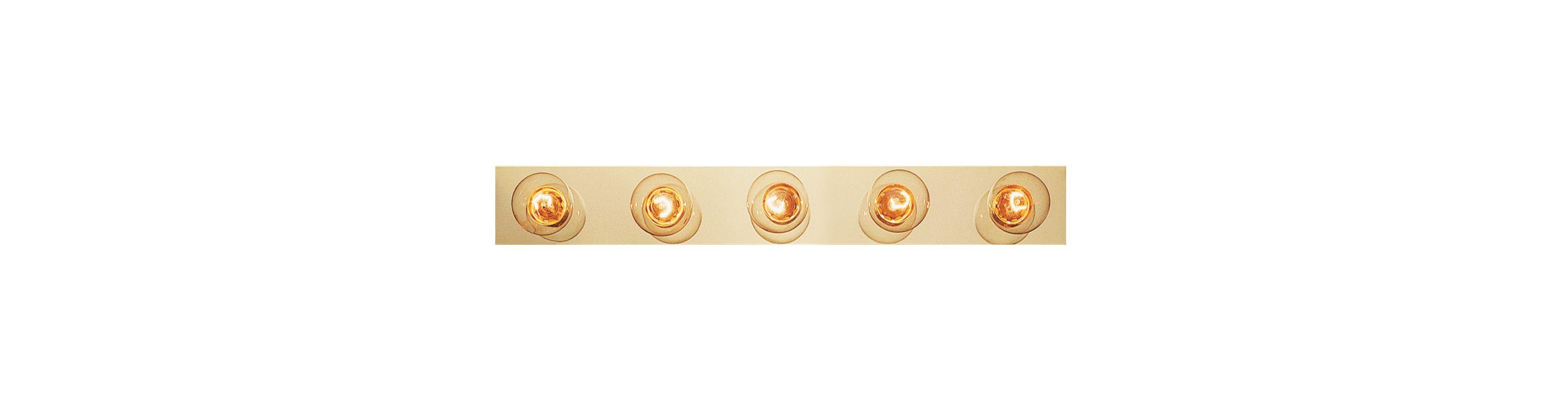 "Trans Globe Lighting 3005 Five Light 30"" Wide Bath Bar Polished Brass"