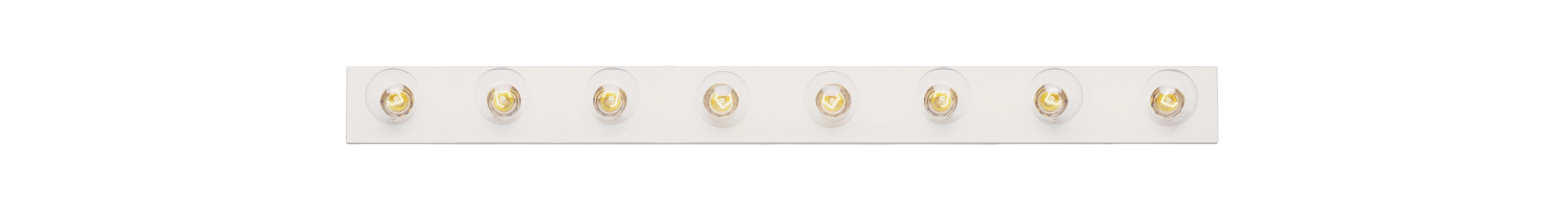 "Trans Globe Lighting 3008 Eight Light 48"" Wide Bath Bar White Indoor"