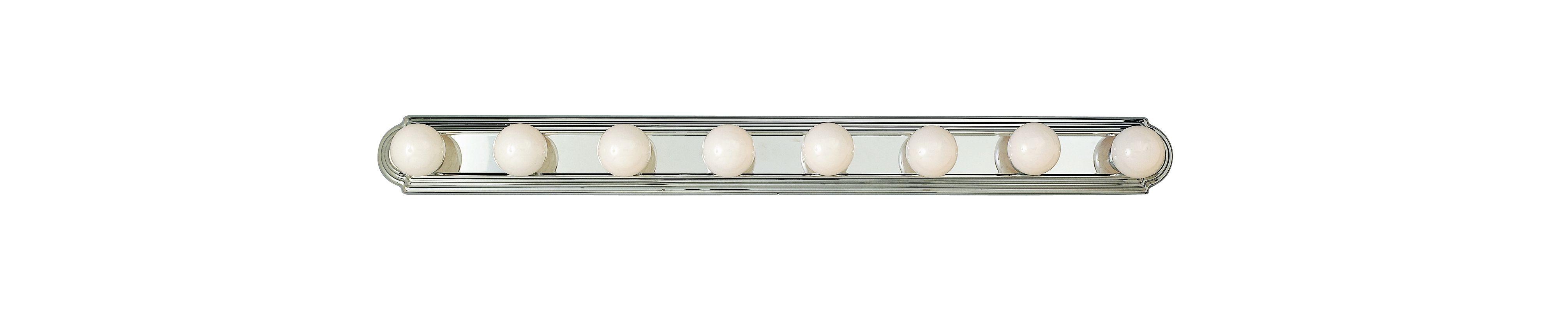 "Trans Globe Lighting 3248 Traditional Eight Light 48"" Wide Bath Bar"