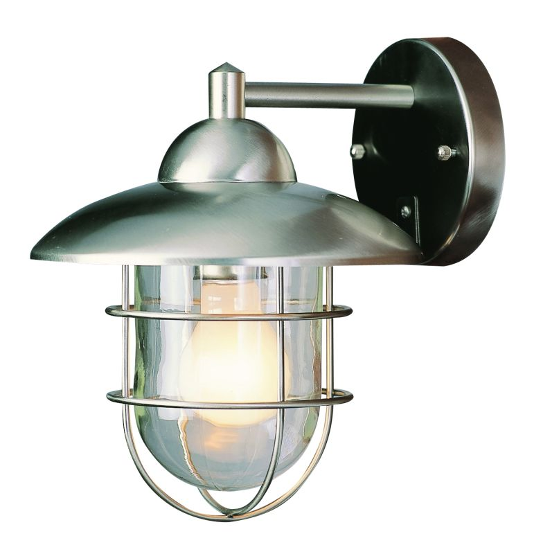 Not On The High Street Industrial Wall Light : Trans Globe Lighting 4370 ST Stainless Steel Industrial 1 Light Outdoor Wall Sconce ...