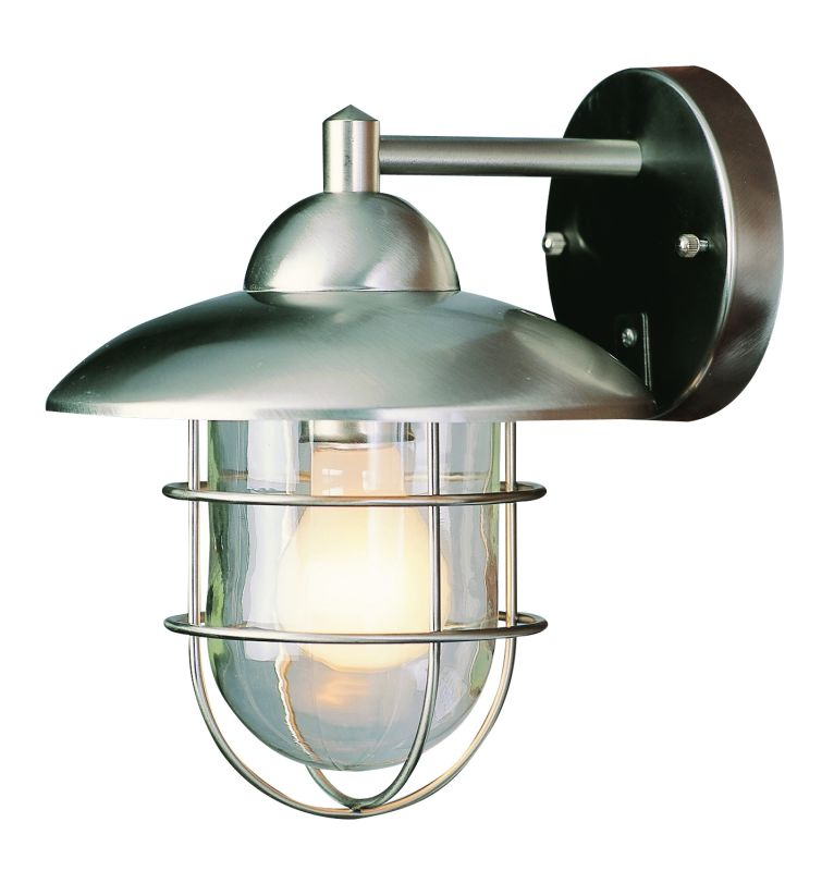 Trans Globe Lighting 4371 ST Stainless Steel Industrial 1 Light Outdoor Wall Sconce ...
