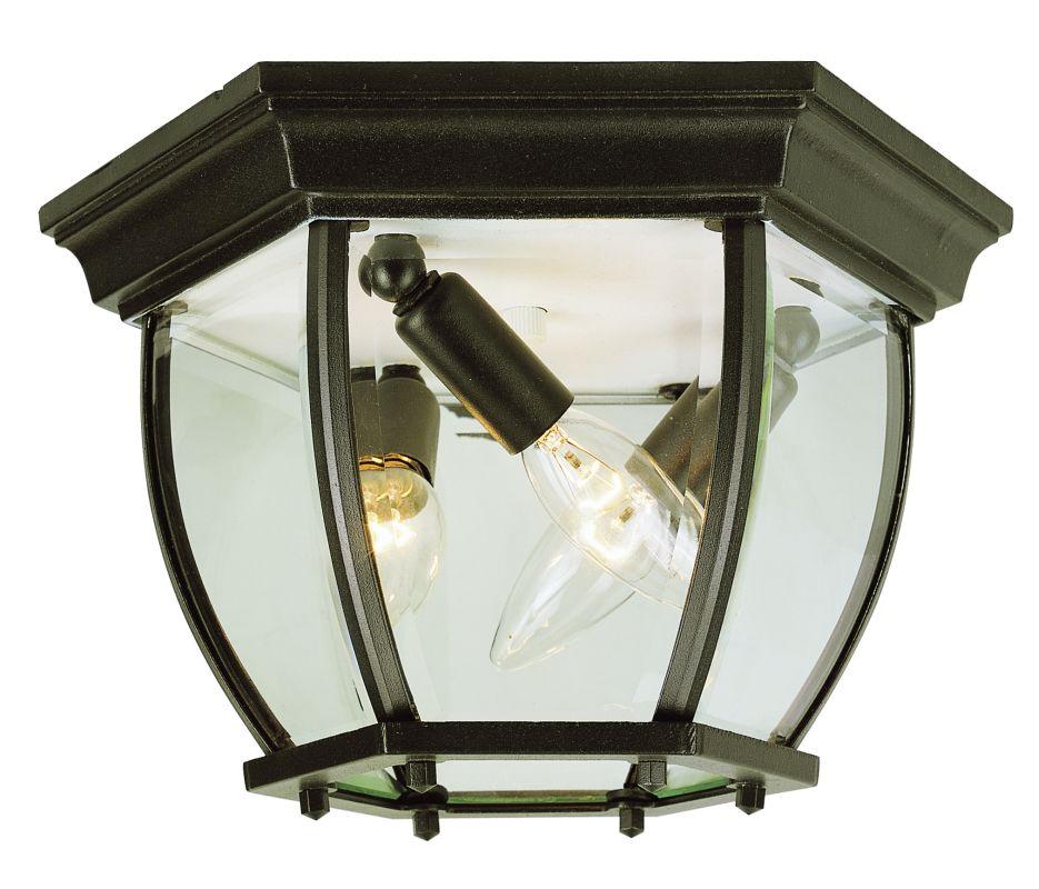 trans globe lighting 4906 bk black three light down